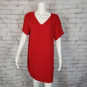 Babaton Red Loose Fit Mini Dress